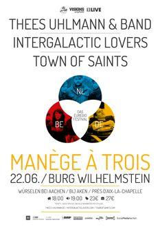Manège à Trois Festival 2013 - Thees Uhlmann & Band, Intergalactic Lovers, Twon Of Saints.