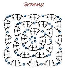 Granny muy simple - Patrón