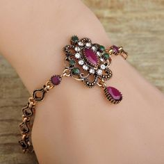 Vintage Turkish Flower Women Bracelets Fish Chain Antique Gold Plated Resin Ruby Waterdrop Bracelet Bangle Pulseras Bijouterie Isn`t it awesome?Visit us:  http://www.jewelryabo.com/product/vintage-turkish-flower-women-bracelets-fish-chain-antique-gold-plated-resin-ruby-waterdrop-bracelet-bangle-pulseras-bijouterie/ #shop #beauty #Woman's fashion #Products #homemade