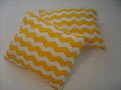 Charming Pillows Handmade Yellow Cotton Chevron by CharmingPillows, $45.00