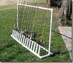 Fishing Rod Holder. Totally making this for my boyfriend who is an avid fishermen