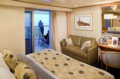 Lanai Oceanview Stateroom (Category CA) MS Veendam