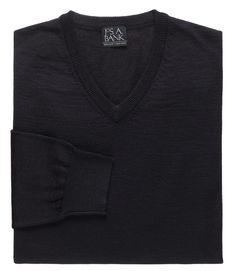 Executive Merino Blend V-Neck Sweater CLEARANCE