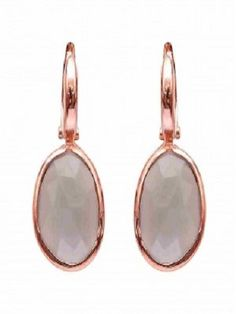 Silver Earrings with Natural Gem Stones