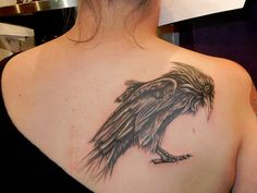 d7095c8b2 When we think about a unique and interesting tattoo theme, one that strikes  our mind is the raven tattoo theme. So here are some of the most popular  raven ...