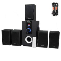 5.1 Speaker System Home Theater Surround with Two 25' Extension Cables TS515-2 by Theater Solutions. $109.99. SpecificationsNew 5.1 Home Theater Multimedia Speaker SystemPower Rating: 500 Watts RMS System PowerBuilt in TunerFrequency Response: 40Hz - 20KHzDistinctive Design: Features high tech design to dampen distortion and deliver crisp clear responseAdditional Features: Pro Logic function for incredible Surround Sound, Stand By function, Infa-red remote sensor lampRemote Contr...