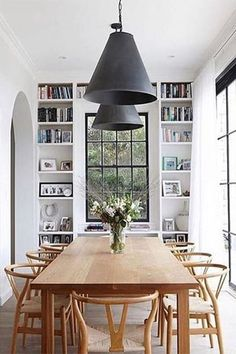 48 Fabulous Scandinavian Dining Room Design Ideas That Looks Cool. Now it is easy to dine in style with traditional Swedish dining chairs. Entertain friends as well as show off your wonderful Swedish . Dining Room Design, Dining Room Table, Dining Chairs, Rattan Chairs, Dining Sets, Dining Furniture, Wood Table, Dining Area, Kitchen Design