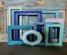 Picture Frame Gallery Seaside Shore by turquoiserollerset on Etsy, $72.00