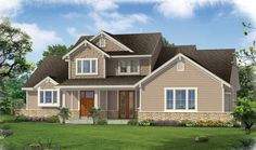 Craftsman+House+Plan+with+2005+Square+Feet+and+3+Bedrooms+from+Dream+Home+Source+|+House+Plan+Code+DHSW75280