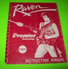 RAVEN By GOTTLIEB 1985 ORIGINAL PINBALL MACHINE SERVICE MANUAL w/ SCHEMATICS #gottliebpinball #ravenpinball