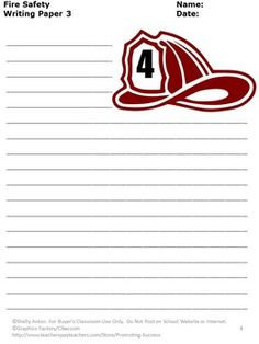 Handwriting Paper Printable Free October Is Fire Prevention Monthyou Will Download Three Printable .