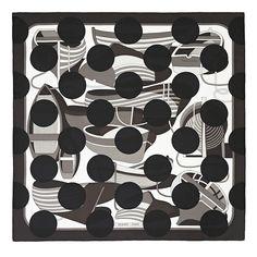 コム デ ギャルソンの川久保玲によるエルメスのスカーフ「コム デ カレ」デザイン初公開 | ニュース - ファッションプレス