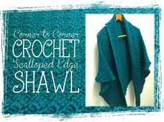 Corner to Corner Crochet Triangle Shawl