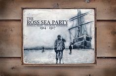 NEW Vintage wooden sign 'Ross Sea Party' 100th by VASSdesign