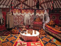 Kazakh nomad yurt tent