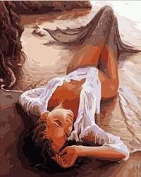 Image result for silk painting mermaids