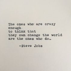 #SteveJobs #CrazyOnes #Quote Typed on #Typewriter by #LettersWithImpact #Apple #Mac #Macintosh