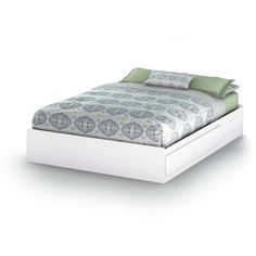 1ea83181ad64 South Shore Vito Queen Mates Bed (60'') with 2 Drawers, Multiple Finishes,  White