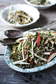 Celeriac Lentil and Apple Salad with a Toasted Cumin Seed Vinaigrette- a delicious healthy meal Vegan, Gluten free!