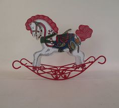 Christmas Rocking Horse Vintage Table Top Decoration Candy