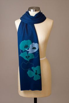 NEW COLORWAY!!  Poppy shapes scarf from Flytrap / $ 25