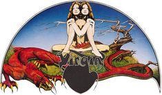 Roger Dean, Virgins Logo. This is a beautiful example of how illustration and graphic design can be incredibly effective when integrated.