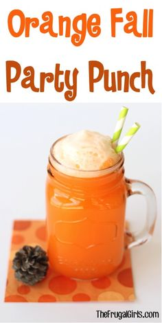 Bridal Shower Punch Recipes — (via Orange Fall Party Punch Recipe in Beverages,...