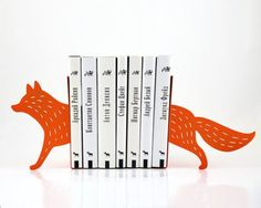 Fox laser cut bookends from Article Design Atelier