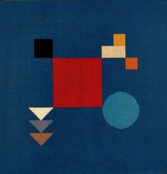 Untitled, 1918. Wool needlepoint, Sophia Tauber-Arp was a Swiss artist, painter, sculptor, and dancer. In 1915, at an exhibition at the Tanner Gallery, she met the Dada artist Jean Arp, with whom she was to collaborate on numerous joint projects until her death in 1943. They married in 1922 and she changed her last name to Taeuber-Arp.