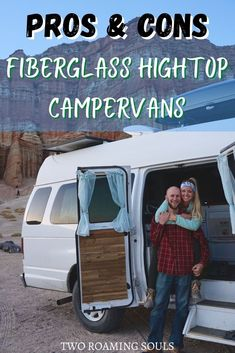This post details the pros and cons of fiberglass hightop vans. This category includes a wide variety of vans, like handicap accessible vans, ambulances, conversion vans, or any other van with an aftermarket fiberglass high-top. . Without a doubt, the primary benefit of these vans is that they can offer standing room. This makes using a fiberglass high-top van for a campervan conversion especially attractive to those on a budget. . #fiberglass #hightop #campervan Kayak Camping, Camping And Hiking, Camping Tips, Vans Top, High Top Vans, High Tops, Perfect Road Trip, Adventure Activities, Hiking Tips