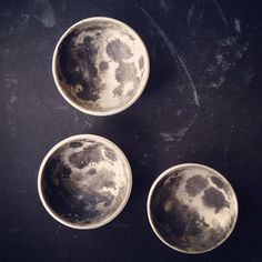 Hand painted porcelain moons for Finders Keepers. #ceramic #pottery #moon #thefinderskeepers #sydneyfinderskeepers