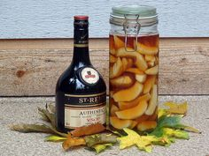 Homemade Pear Infused Brandy