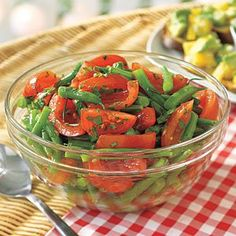 Green Bean and Tomato Salad #recipe