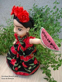 Frida Kahlo Veridiana Rezeck Para Caixa de Bonecas