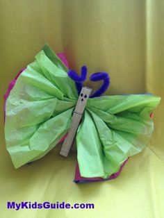 Easter Crafts for Kids: DIY Tissue Paper Butterflies
