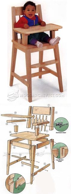 High Chair Plans - Children's Furniture Plans and Projects | WoodArchivist.com