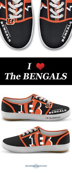 promo code 0bf5e 5144a NFL-Licensed Cincinnati Bengals Women s Canvas Sneakers