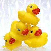 Rubber Duck Posters - Yelow ducks Poster by Bernard Jaubert
