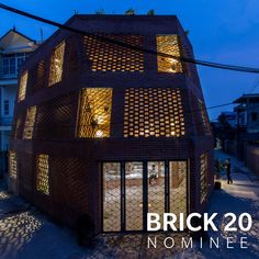 50 projects made it onto the short list for the Brick Award 2020 which celebrates outstanding international brick architecture. The nominated architecture projects will be published in the Brick Book Family Apartment, Brick Architecture, Retail Shop, Tricks, Skyscraper, Multi Story Building, Construction, Mansions, House Styles