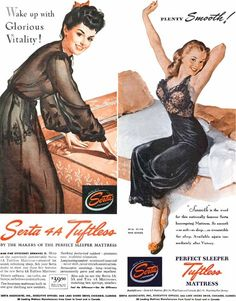 Serta Advertisement, 1943  Illustration by Gil Elvgren