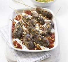 The Arabic Food Recipes kitchen (The Home of Delicious Arabic Food Recipes) invites you to try Moroccan kofte with spicy tomato sauce Recipe. Spicy Tomato Sauce, Tomato Sauce Recipe, Sauce Recipes, Kebab Recipes, Lamb Recipes, Vegetarian Recipes, Chicken Recipes, Healthy Recipes, Bbc Good Food Recipes