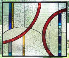 Geometric Stained Glass Panel Textures by trilobiteglassworks, $150.00