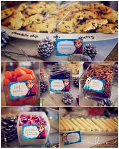 frozen birthday party - food ideas awesome blog for ideas www.bachmanvillephotography.com
