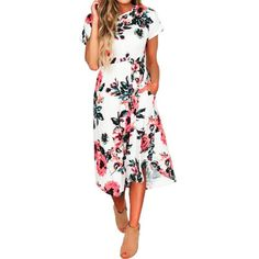 Floral Printed Back to School Dress