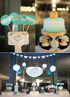 Angel Prince themed christening or 1st birthday party via Kara's Party Ideas | KarasPartyIdeas.com