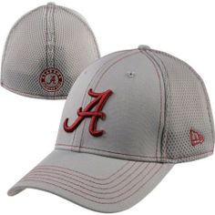 quality design 2abfa 9a298 Alabama Crimson Tide New Era 39Thirty Gray Neo Stretch Fit Hat by New Era.   22.99