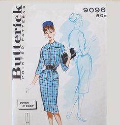 Vintage 1960s  Dress Pattern Butterick 9096 Uncut  by Revvie1, $7.20