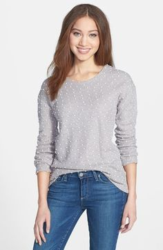 Pleione+Split+Back+Dot+Print+Sweater+available+at+#Nordstrom