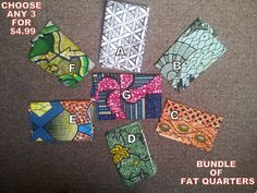 Bundle of 3 FAT QUARTERS  Quality african wax by TamiahDesigns, $4.99