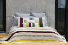 Fall in love with bedding at armchairmuse.com! Throws, shams, duvets, quilts, blankets Throw Pillows Bed, Bed Throws, Quilt Bedding, Duvet, Rustic Style, Your Space, Comforters, Cushions, Quilts